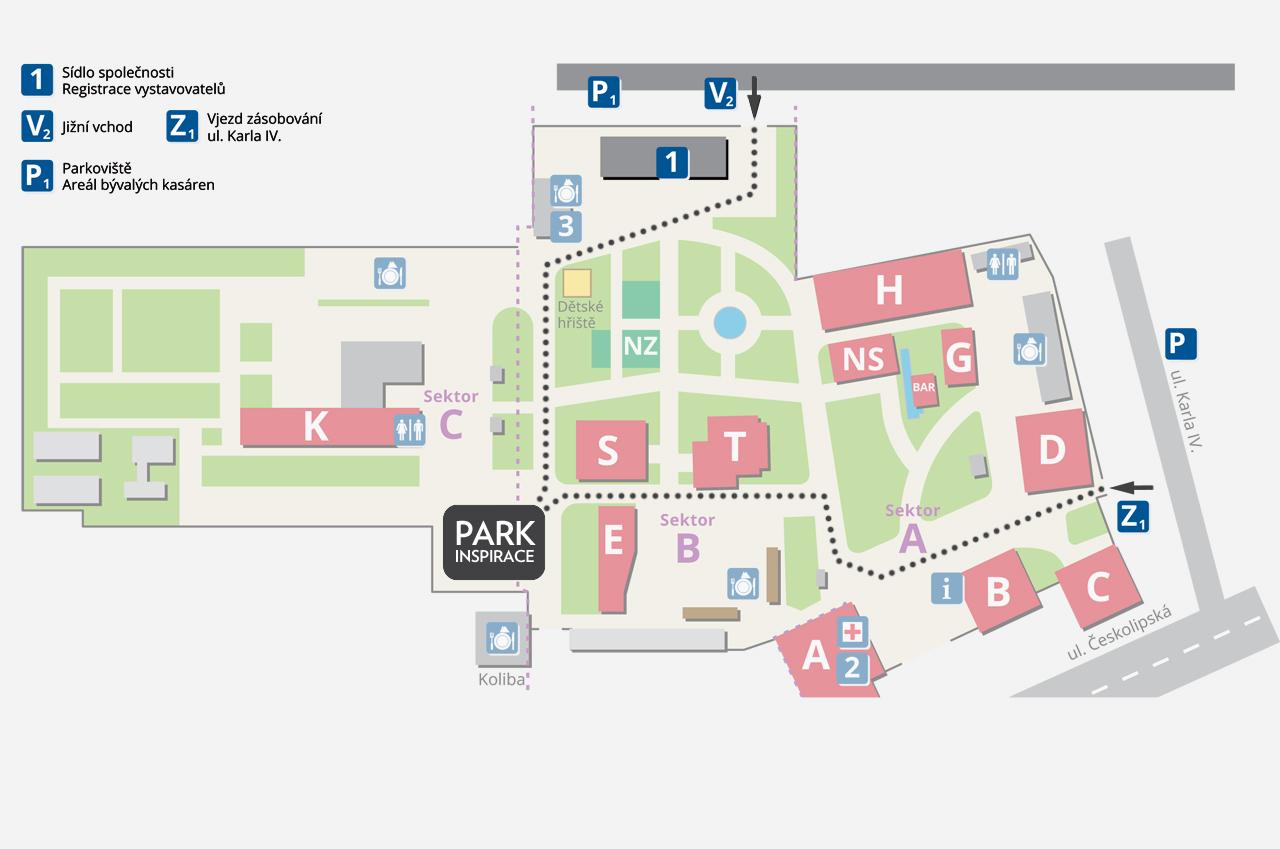 Mapa Park inspirace CS-BETON